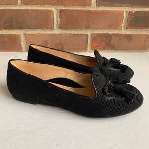 Like new Nurture Gabbey black leather flats shoes